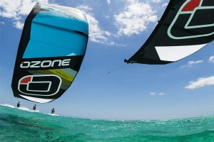Ozone Kitesurfing action shot